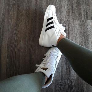 Womens White and Black Adidas